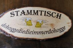 Stammtisch Sign at Prost