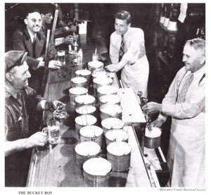 Growler Buckets on the Bar