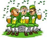 Irish Men Drinking & Singing