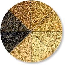 Malted grain, one major ingredient in brewing
