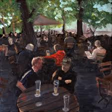 Socializing at the Beer Garden