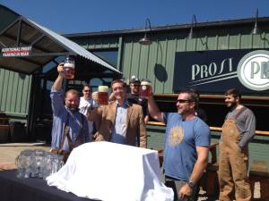 The First Prost of Prost Brewing's Oktoberfest