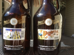 Prost Brewing's Marzen Oktoberfest and Kolsch Growlers