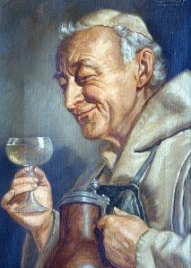Monk Drinking