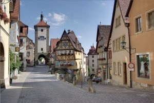 Courtesy of: Berthold Werner; In the city of Rothenburg, one of the most photographed and painted places in Germany