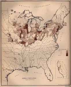 German Populations in the U.S. 1872