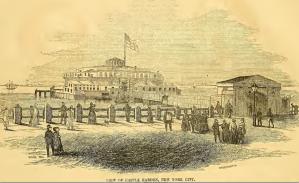 View of Castle Garden New York City 1851