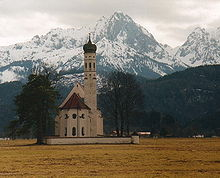 Church with Bavarian Alps in the Background; Courtesy of: Rebecca Kennison Under the License: http://creativecommons.org/licenses/by-sa/3.0/deed.en