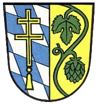 A German Coat of Arms with a depiction of Hops